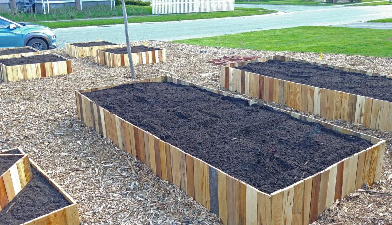 Filled raised beds